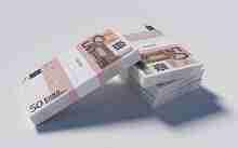 20.000 Euro in gebündelten 50 Euro Scheinen