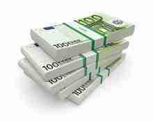 Beitragsbild: 50000 € in gebündelten 100 Euro Scheinen