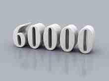 Beitragsbild: die Zahl 60.000 vor grauem Hintergrund.