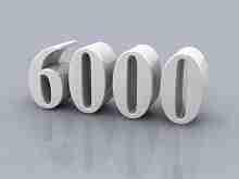 Beitragsbild: die Zahl 6000 für 6000 Euro Kredit