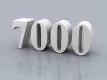 Beitragsbild: die Zahl 7000 vor grauem Hintergrund