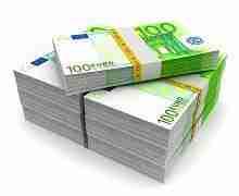 Beitragsbild: 80000 Euro in 100 Euro Scheinen