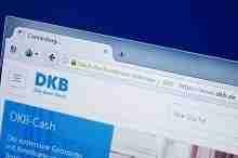 Ausschnitt aus der Homepage der DKB Bank