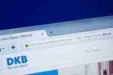 Die Homepage der DKB Bank