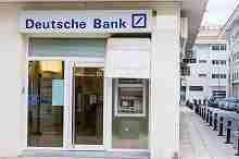 Eine Filiale der Deutschen Bank
