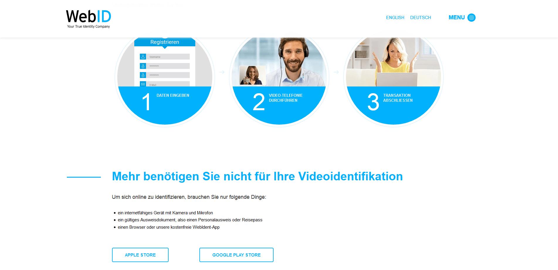 WebID Solutions GmbH – Screenshot